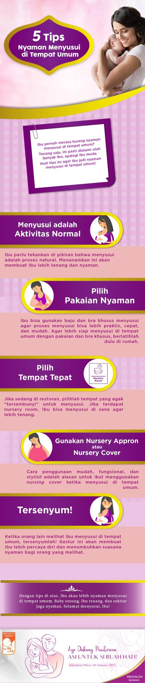 5 Tips Nyaman Menyusui di Tempat Umum